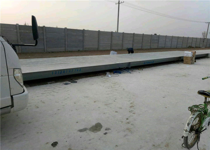 10mm Plate Thickness Pit Mounted Weighbridge , Mechanical Truck Scale Large Screen Display